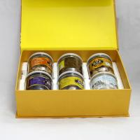 Buy cheap Eco-friendly Yellow Magnetic Recycled Paper Gift Boxes for Food , Tea ,  Dried Fruit from wholesalers