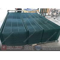 Buy cheap 3D Welded Wire Mesh Fence Panels   RAL6005 dark green color   China Metal Fence Supplier from wholesalers