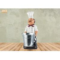 Buy cheap Polyresin Chef Bottle Holders Restaurant Italian Chef Tabletop Statue Wine Rack from wholesalers