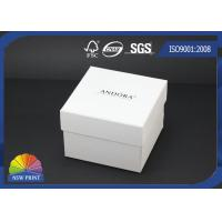 Buy cheap Custom Logo Printed Paper Jewelry Box / Jewellery Gift Boxes / White Jewelry Packaging Boxes from wholesalers