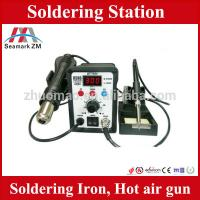 Buy cheap Soldering and desoldering station hot air gun with soldering iron from wholesalers