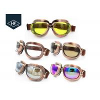 Buy cheap Copper Yellow Frame Aftermarket Motorcycle Accessories Metal Sunglasses from wholesalers