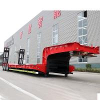 Buy cheap 24V Low Bed Semi Trailer 100 Tons 6 Axles In Three Lines Gooseneck Drop Deck Truck from wholesalers