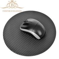Buy cheap Round Shape Carbon Fiber Furniture Fashion Mouse Mat Black Color from wholesalers