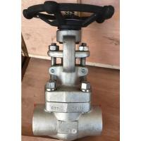 Buy cheap Bolt Bonnet 2 Inch Gate Valve SW NPT Ends Class 800 A182 F316L Trim from wholesalers