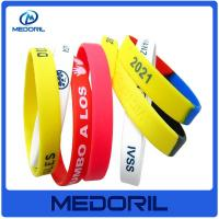 Buy cheap Custom brand logo personalized silicone bracelets with cheap price from wholesalers