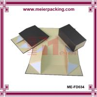 Buy cheap Magnetic Rigid Cardboard Black Folding Packaging Box, Flat Pack Jewelry Box ME-FD034 from wholesalers