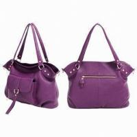 Buy cheap Rosy Casual Handmade Leather Handbags With Polyester Lining Ladies Bags from wholesalers