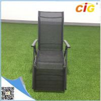 Buy cheap Aluminum lightweight folding sling chaise lounger /  comfortable recliner chair popular sun bed from Wholesalers