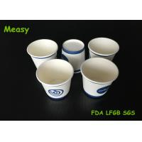 Buy cheap Small Size Trial Drinking Single Wall Paper Cups , 4oz personalized takeaway coffee cups from Wholesalers
