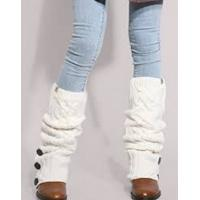 Buy cheap Warm White Knitted Leg Warmer , Beautiful Wool Leg Warmers from wholesalers