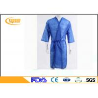Buy cheap Soft Relaxable Disposable Sauna Gown / Hotel Dress Disposable Bath Robes from wholesalers