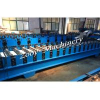 Buy cheap Corrugated Metal Deck Roll Forming Machine With Hydraulic Cutting, Hydraulic Punching from wholesalers
