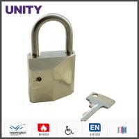Quality PLEC10 Mortice Lock Cylinder / Euro Cylinder Padlock Stainless Steel Shackle Matt Chrome for sale