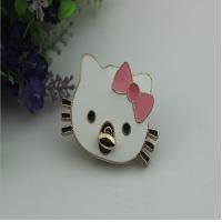 Buy cheap Beatiful hello kitty patter decorative light gold metal purse turn lock from wholesalers