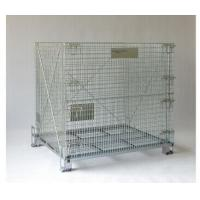 Buy cheap Collapsible Wire Mesh Container Rolling Metal Storage Cage With Wheels from wholesalers