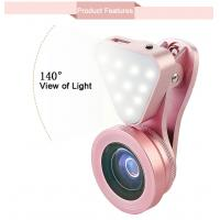 Buy cheap Universal 3 in 1 Phone Camera Lens with Led Flash Light,15X Macro Lens Clip-on Cell Phone Lenses for  iPhone 6 6s from wholesalers