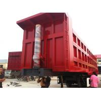Buy cheap 2015 Hot sale 3 axles end tipping semi trailer/rear dump semitrailer for truck from wholesalers
