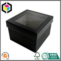 Buy cheap Transparent Plastic Window Paper Packing Gift Box; Black Color Print Paper Box from wholesalers
