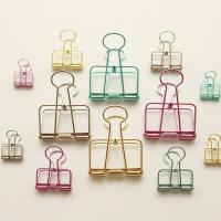 Buy cheap Customized Color Novel Metal Practical Hollow Out Binder Clips  Paper Clip from wholesalers