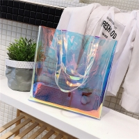 Buy cheap L33*D8*H33 Cm Shopping Travel Hologram PVC Clear Bag from wholesalers