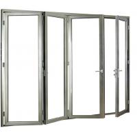 Buy cheap Household Accordion Glass Windows / Aluminium Bi Fold Windows Soundproof from wholesalers