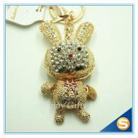 Buy cheap Cute Cartoon Rhinestone Rabbit keychain for Valentine's Day Gift from wholesalers