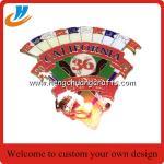Buy cheap LED flash baseball lapel pin/US baseball metal pin with LED on back from wholesalers
