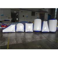 Buy cheap Wonderful 0.9mm PVC Blow Up Paintball Bunkers Blue And White from wholesalers