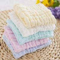Buy cheap Anti Bacterial Pure Muslin Face Washcloths Towel Baby Wipes Solid Color from wholesalers