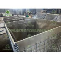 Buy cheap Galvanized Steel Welded Gabion Box , Flat Surface Military Sand Gabion Wall Mesh from wholesalers