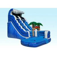 Buy cheap PVC Kids Inflatable Water Slide , Blue Jungle Monster Inflatable Wave Pool Slide from wholesalers