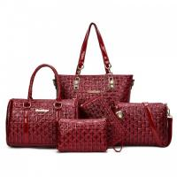 Buy cheap Women set bag pu leather handbags from wholesalers