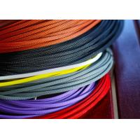 Buy cheap Flame Retardant PET Expandable Braided Sleeving High Density Sheathing from wholesalers