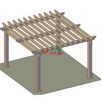 Outdoor wood plastic composite pergola designs / 5mx5m layout / OLDA-5001-03
