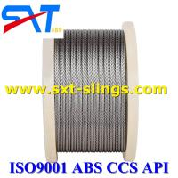 Buy cheap wire rope manufacturer galvanized steel wire rope exporter 6*37+FC from wholesalers