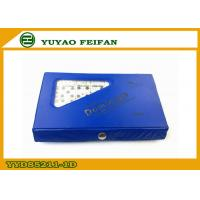 Buy cheap Blue PVC Box Veined Marble Wooden Dominoes Set With SGS / ICTI from wholesalers