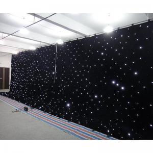 Buy cheap Black velvet stage curtain  fairy lights curtain led wedding backdrop curtains product