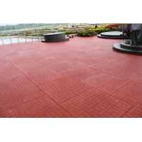 Buy cheap Red Outdoor Rubber Mats Sound Absorbed Shockproof For Child Playground from wholesalers