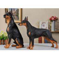 Buy cheap Resin Material Simulation Dog For Garden Decoration / Home Security product
