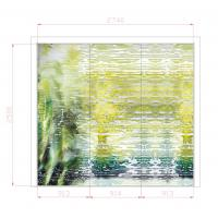 Buy cheap Art Decorative Interior Glass Wall Panels For Counter Decor , 3600mm × 2400mm from wholesalers
