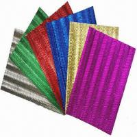 Buy cheap Metallic Corrugated S Flute Papers, Good for School Activities/Handcrafts and Gifts Wrapping from wholesalers