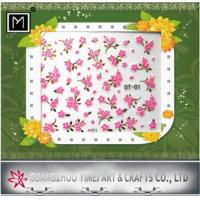 Buy cheap Custom sliver plating creative Art 2d Nail Stickers, colorful nail designs product