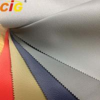 Buy cheap Pvc / Polyester Faux Leather Upholstery Fabric With Mesh Fabric Back product