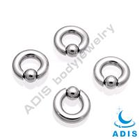 Buy cheap Captive Bead Ring Ball Closure Ring With Spring ball Piercing Jewelry from wholesalers