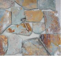 Buy cheap Random Rusty Slate Crazy Flagstone Paving Stone floor tiles with new style in 2017 from factory from wholesalers
