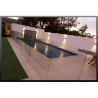Buy cheap Tempered Swimming Pool Glass Fencing , Glass Deck Fencing Blue from wholesalers