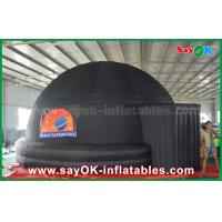 Buy cheap 6m Black Inflatable Planetarium Dome Projection Screen Tent With Logo Print from wholesalers