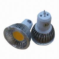 Buy cheap COB LED Spotlight Bulb with GU5.3, GU10 or E27 Sockets product