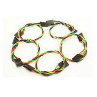 Buy cheap 20cm Dupont Jumper Wires Female To Female , 4 Pin Dupont Line 2.54mm Spacing Pin Header from wholesalers